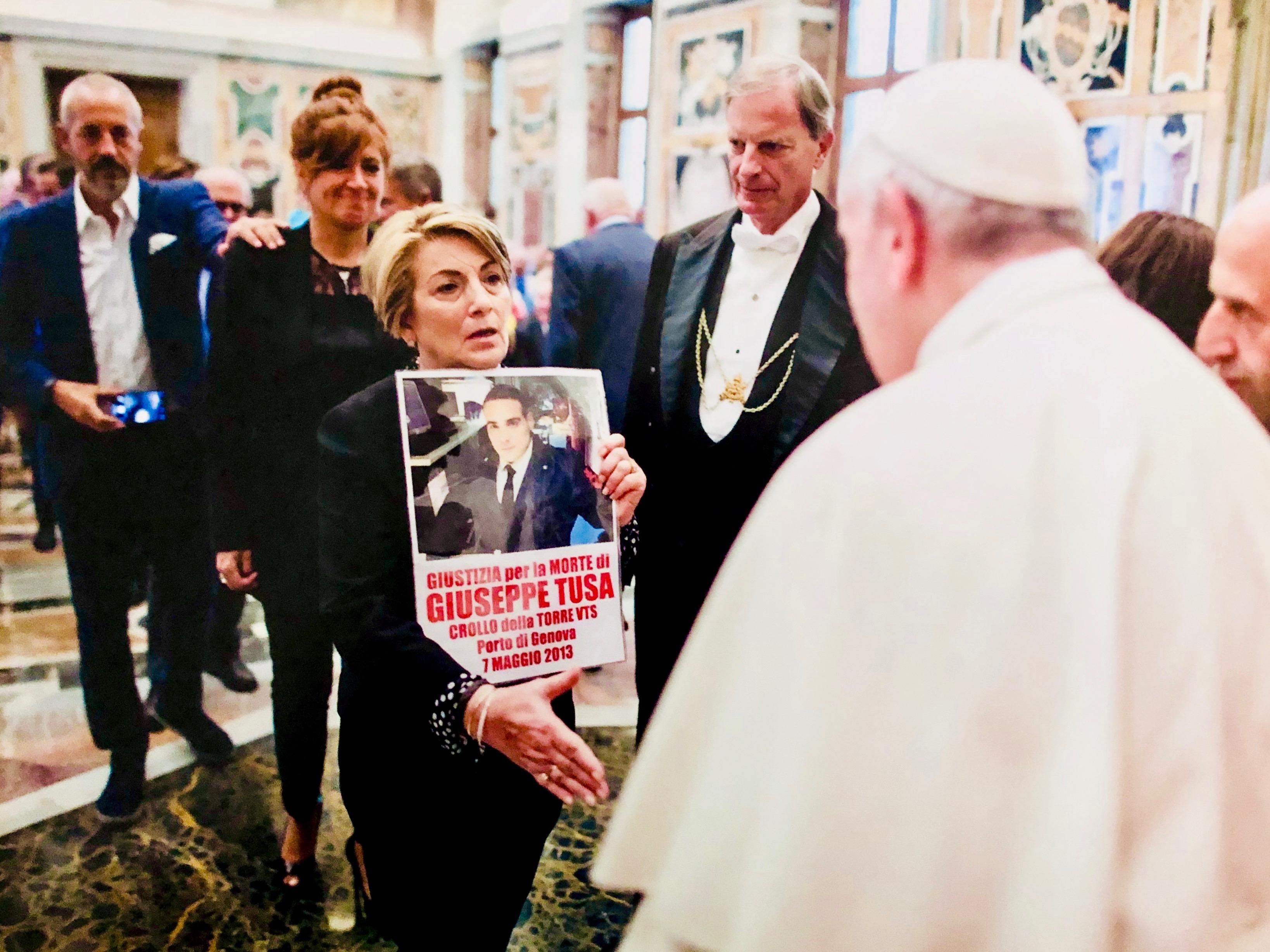I Ministeri e Capitaneria nel processo Torre Piloti e Adele Tusa ricevuta dal Papa